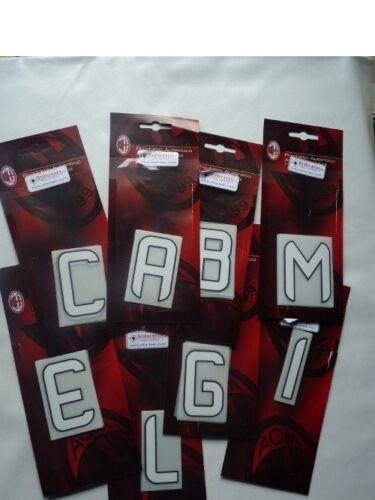 24H Ac Milan Kit Lettera a scelta x Printing Set maglia calcio 2012 14 Home
