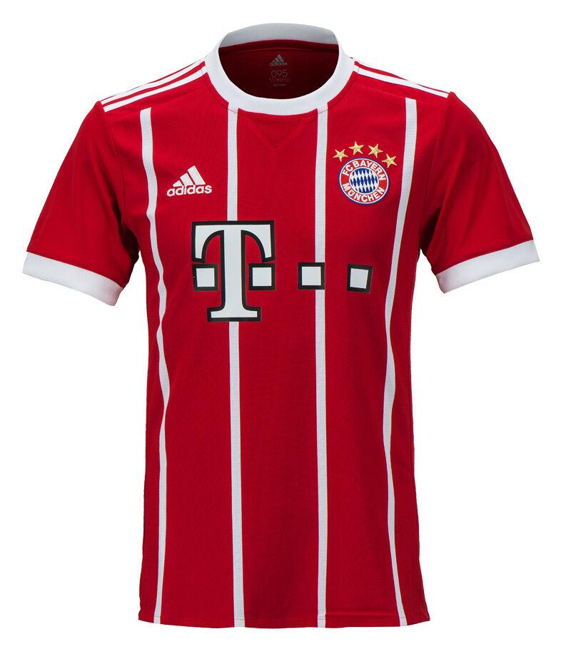 Adidas 17-18 FC Bayern Munich Home Jersey Camisa de fútbol de AZ7961 uniforme