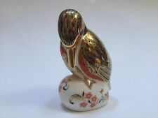 Royal Crown Derby Paperweight Kingfisher with Gold Stopper 1993 - Excellent
