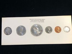 1960 Canada Prooflike Silver Set Original Royal Canadian Mint set RCM Package #2