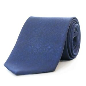 Cravatta-Uomo-Seta-Blu-Fantasia-Damascata-Jacquard-Larga-Made-In-Italy