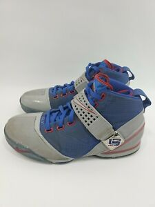Nike-Zoom-Lebron-V-5-2007-08-Blue-Grey-Red-All-Star-Sneakers-317253-003-Size-12