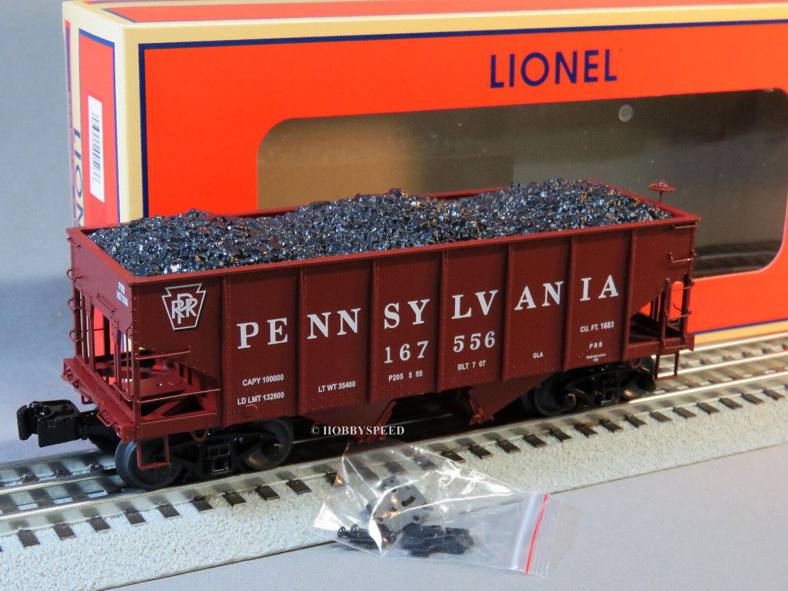 LIONEL PRR SCALE 50 TON TWIN HOPPER 167556 6-81858  train car o gauge 6-81860