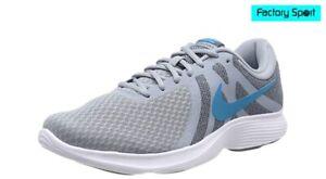 Details about Nike Revolution 4 EU gris azul zapatillas deportivas running  atletismo hombre