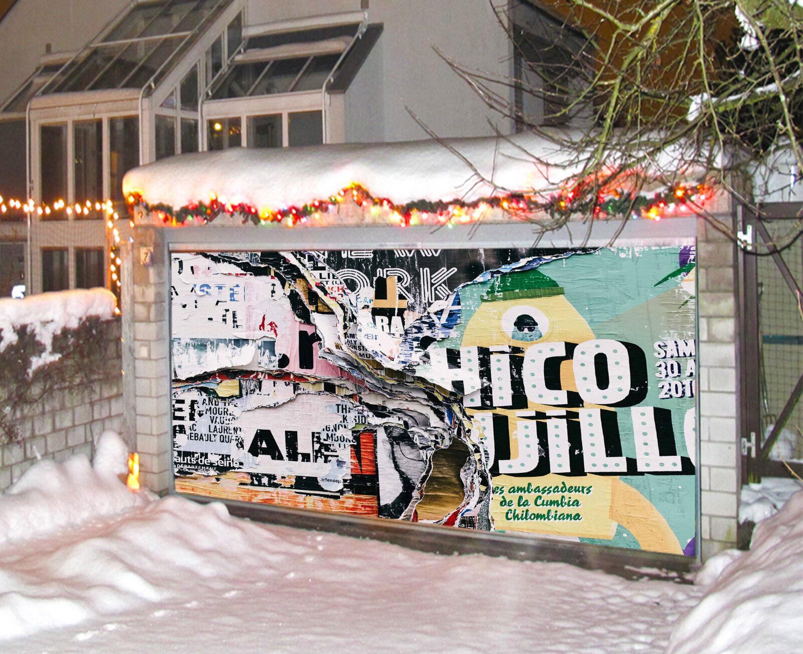 3D Collage Des Affiches Garage Porte Peint en Autocollant Murale AJ WALLPAPER FR