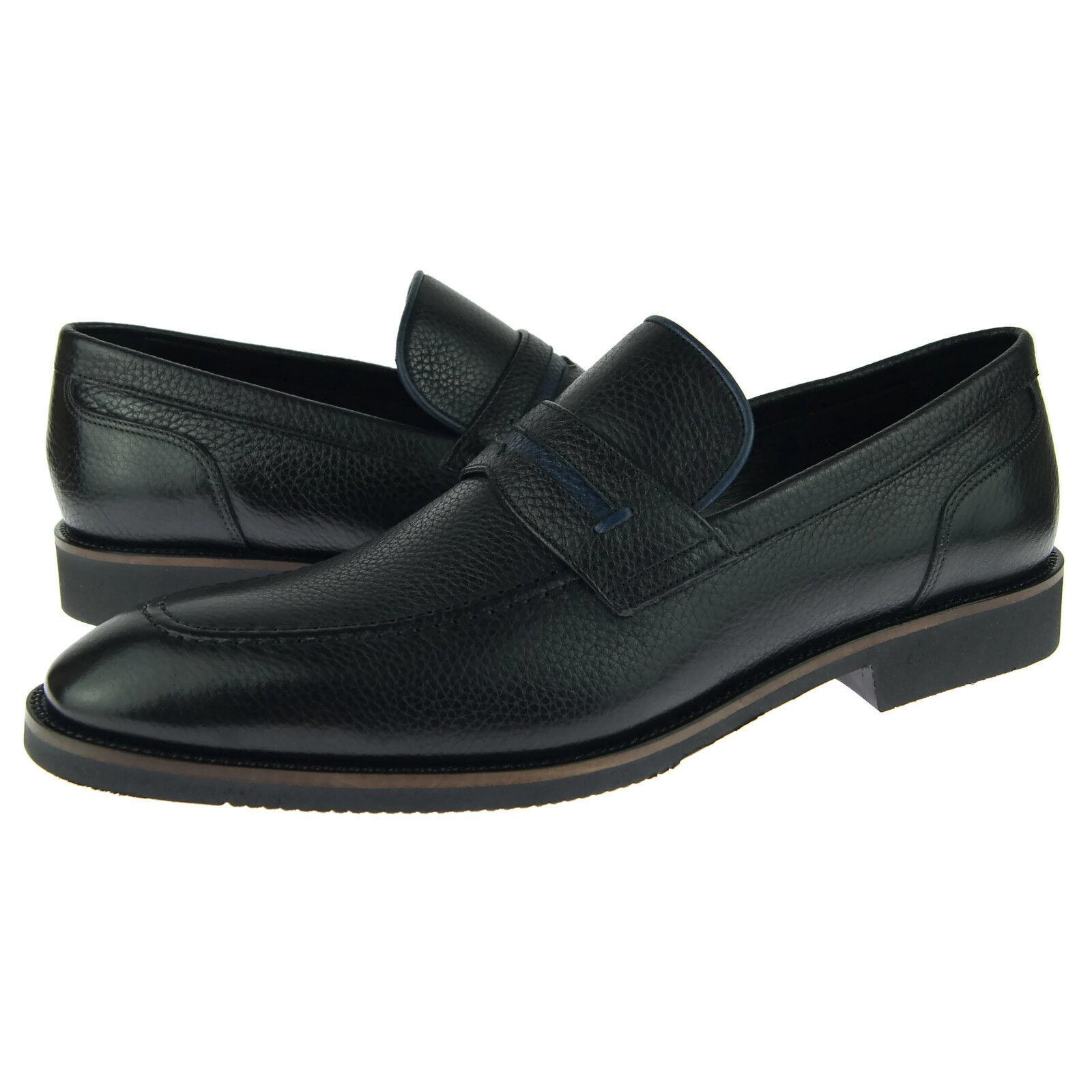 Alex D   Monterey   Vibram Mocassino Penny,hombres Abito   zapatos di Cuoio Casuali,
