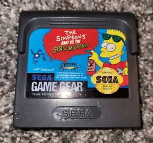 Simpsons: Bart vs. The Space Mutants (Sega Game Gear, 1992) Working with Case