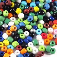 Lot Mix 1000 Perles de Rocailles en verre 4mm Opaque 100g (6/0)