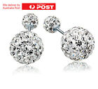 New Fashion 1pair Women Lady Elegant Silver Crystal Rhinestone Ear Stud Earrings