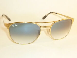 a51255640d New RAY BAN Sunglasses SIGNET Gold Frame RB 3429M 001 3F Gradient ...