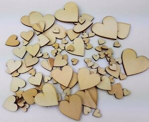 100-Mixed-Size-Wood-Love-Heart-10mm-40mm-Wedding-Table-Decoration-Craft