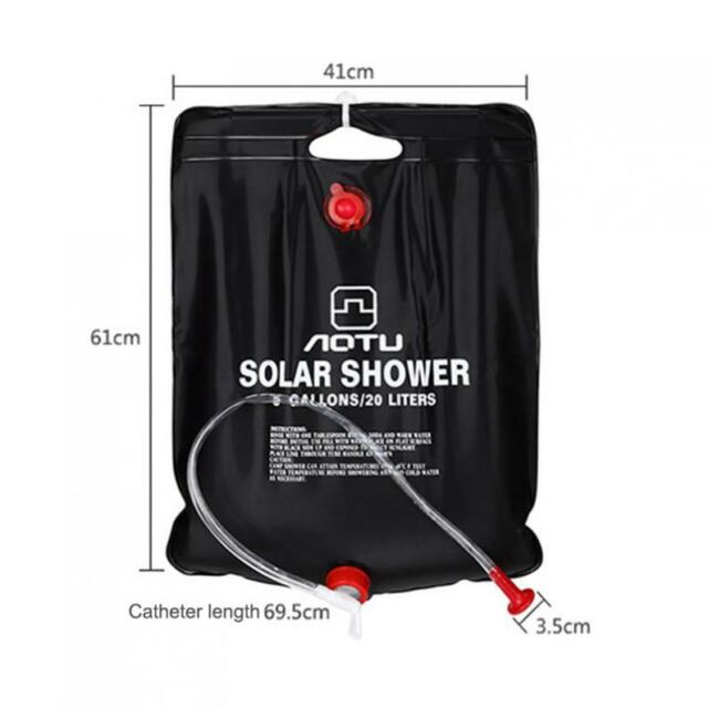 Solar Power Heating Shower Bag Portable Bathing Bag for Outdoor Camping