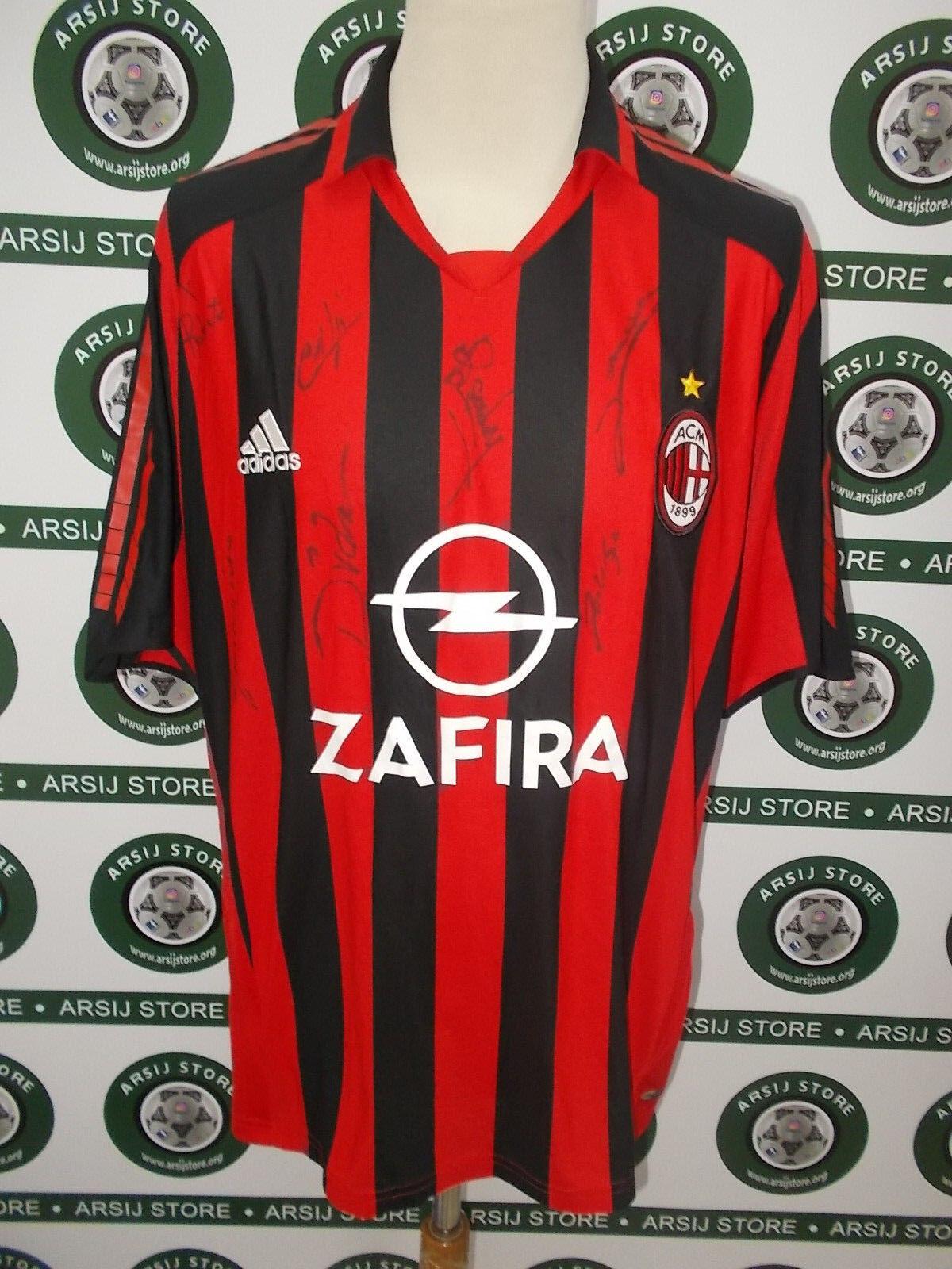 Maglia calcio shirt maillot trikot camiseta MILAN CAFù  TG XL SIGNED  Descuento del 70% barato