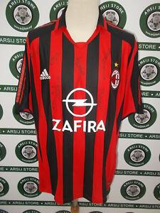 maglia-calcio-shirt-maillot-trikot-camiseta-MILAN-CAFu-TG-XL-SIGNED