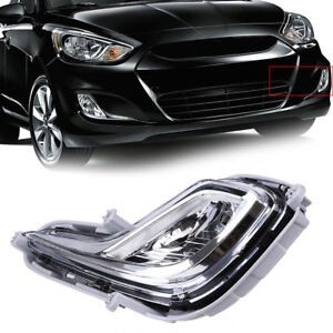 CHROME REFLECT DRIVING BUMPER FOG LIGHTS LAMPS+SWITCH FOR 12-16 HYUNDAI ACCENT