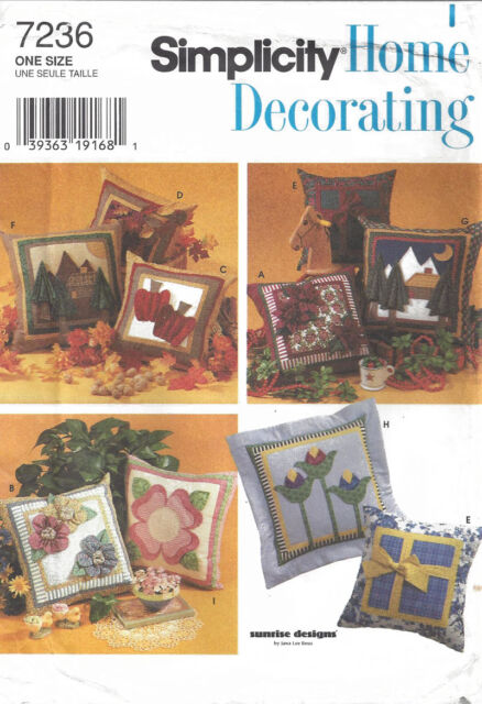 Simplicity Home Decorating 60 Sewing Pattern Pillows EBay Amazing Pillow Sewing Patterns