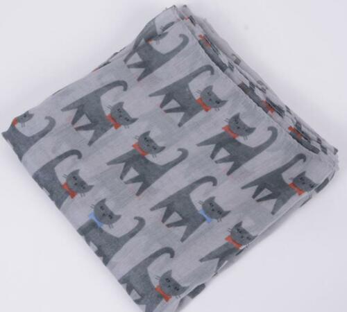 Pet Gift Ladies Shawl Cat Design Print Scarf