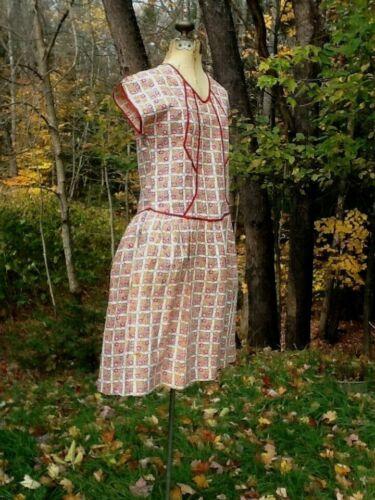 Vintage Antique 1930's Cotton Farm DRESS  PRINCESS