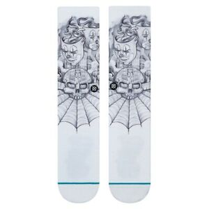 Stance-Neuf-Homme-Mister-Dessin-Toonz-Chaussettes-Blanc-Neuf