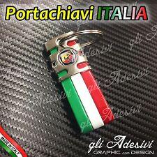 Portachiavi Bandiera Tricolore Italia Auto Moto ABARTH