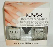 1 NYX Precious Pearls Nail Jewelry WHITE PEARL #02