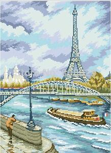 Diamond Painting-diamant Stickerei/malerei Diamant Bild Pariser Ufer 38x53 Cm Profitieren Sie Klein Basteln & Kreativität Bastelsets