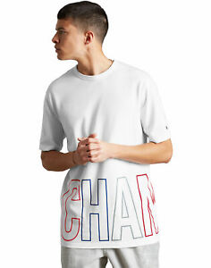Champion Life Mens Tee T-Shirt Multi-Color Wraparound Logo Heritage Short Sleeve