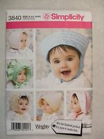 Baby Bonnets Hats Sewing Pattern Simplicity 3840 Read Full Listing Info