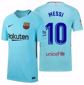 huge discount f1d32 1d83b Details about NIKE LIONEL MESSI FC BARCELONA AWAY JERSEY 2017/18.