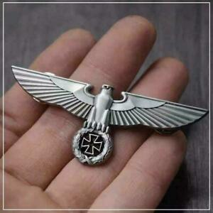 WWII-German-Army-Eagle-Medal-WW2-Germany-Iron-Cross-Badge-Military-Cap-Hat-Pin