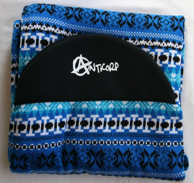 ANTICORP MAL SURFBOARD SOCK COVER 10 FT BLUE ACRYLIC MADE IN TAIWAN NOT CHINA