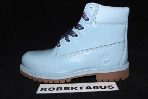 Timberland TB01991A484 Light Blue Youth GS Kids 6-in Premium WP Boot
