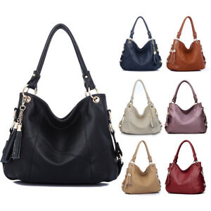 Luxury Ladies Womens Soft Leather Shoulder Shopper Bag ...