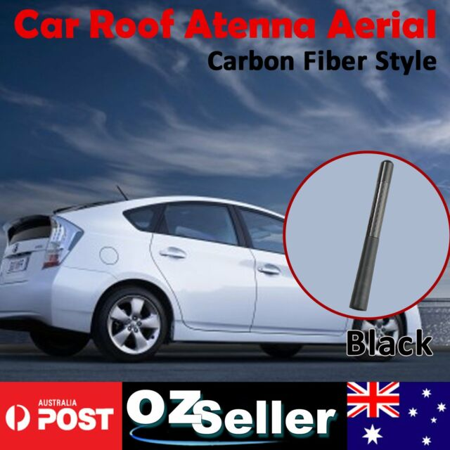 12cm Carbon Fibre Antenna Car Auto AM FM Roof Radio Signal Amplifier Amp Aerial