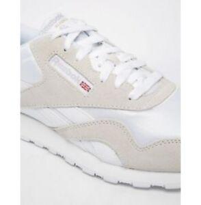 b02c49fb1039 Reebok Royal Nylon 6390 Athletic White Light Grey Mens Tennis Shoes ...