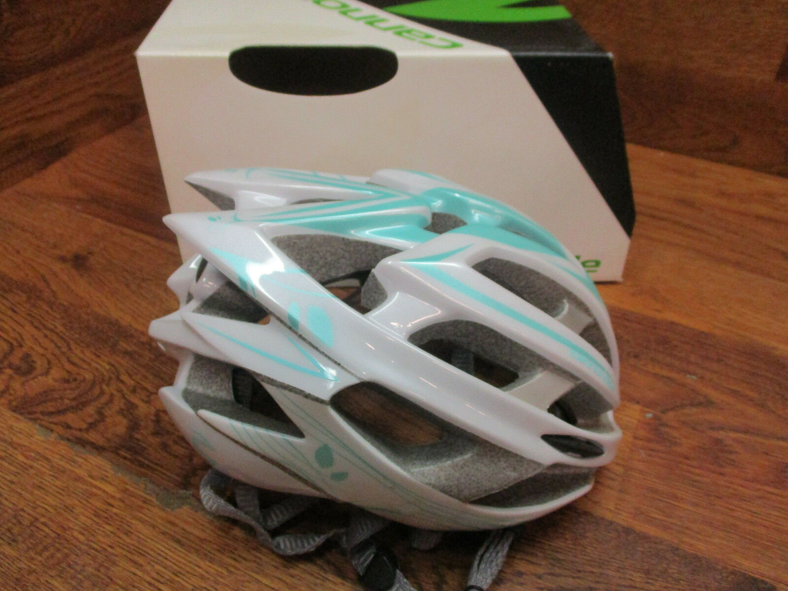 CANNONDALE TERAMO BICYCLE BIKE CYCLING ROAD HELMET  WHITE TEAL L-XL 58-62CM WOMEN  more discount