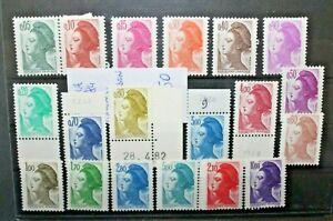 FRANCOBOLLI-FRANCIA-1982-84-LIBERTA-039-DI-GANDON-NUOVI-MNH-C-B