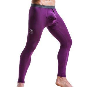 Mens Long Johns Thermal Underwear Thicken Slim Leggings Winter Warm Bottom Pants
