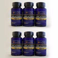 6x Puritan's Pride Melatonin 10 mg 360 capsules sleep aid dietary supplement