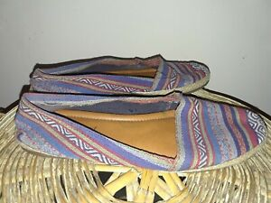 Dynamic Lucky Brand Multi Color Espadrille Jute Flats Size 7.5 M Womens Blue Green Red Discounts Price Clothing, Shoes & Accessories