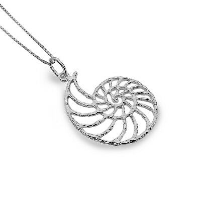 Ammonite Shell Pendant Sterling Silver 925 Hallmarked All Chain Lengths