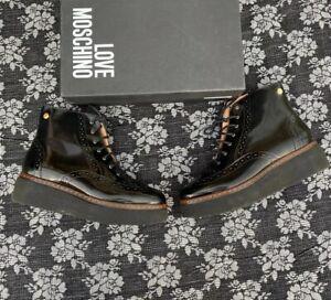 LOVE Moschino Platform Utility Boot