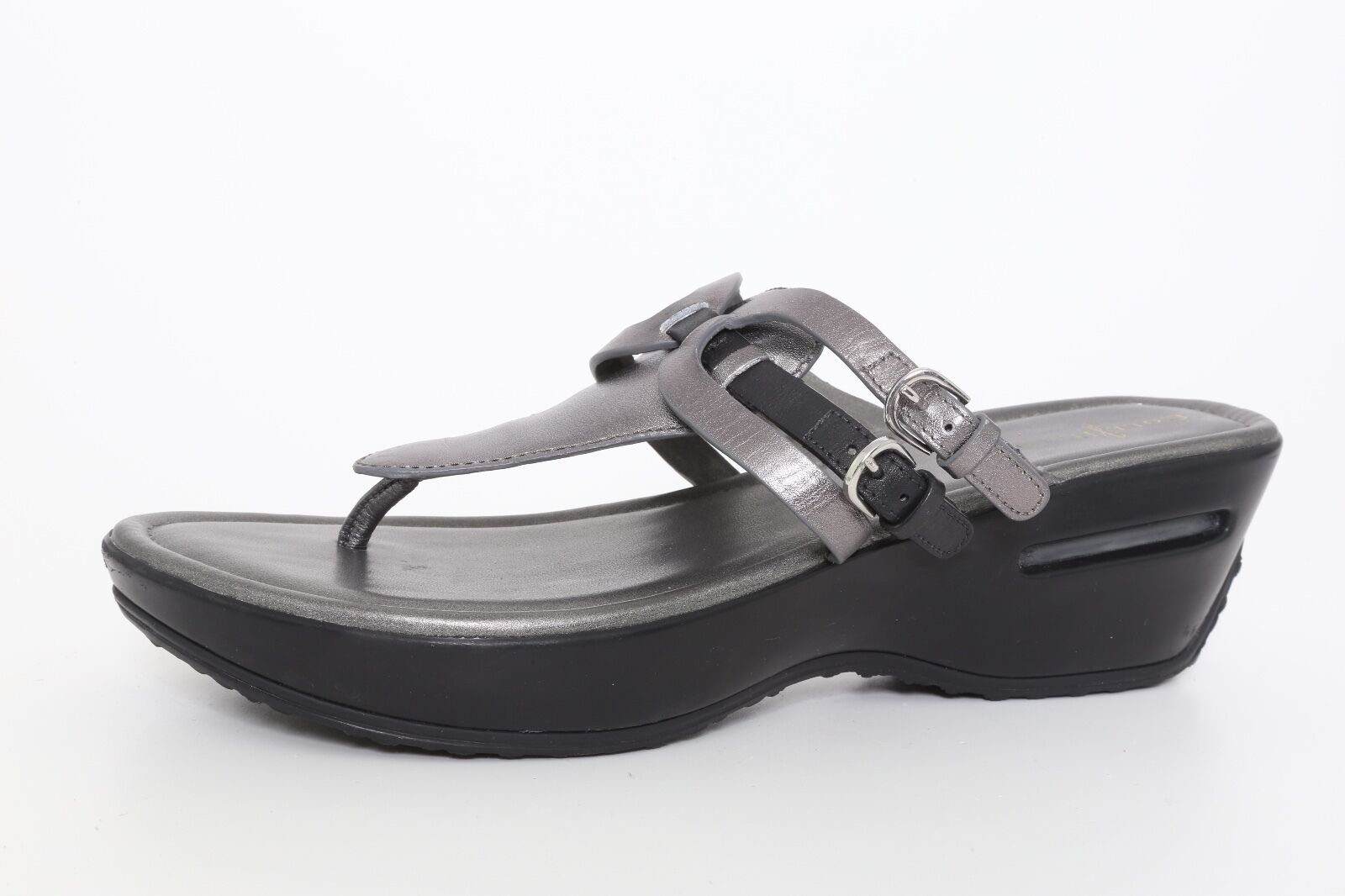 Cole Cole Cole Haan Women's Leather Air Melisa Thong Sandal Gunsmoke Metallic 4058 Sz 9.5B 46e992