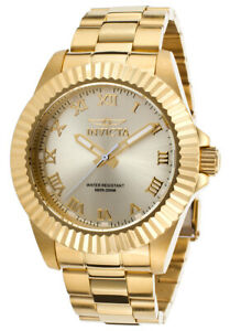 NEW!! Invicta Pro Diver Champagne Dial Gold-tone Roman Numerals Mens Watch 16739
