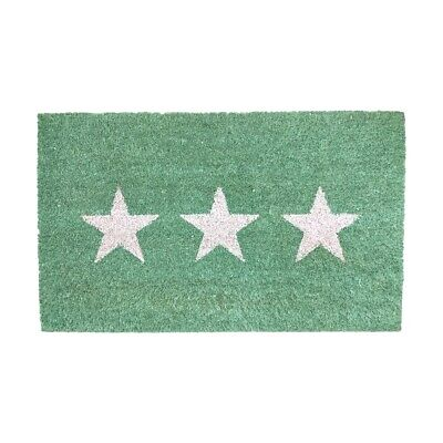Details about  /Mint Green with Three White Stars Doormat