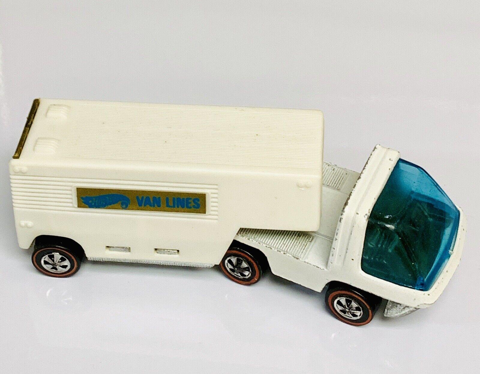 Hot Wheels rotline Heavyweights Weiß Enamel Moving Van Lines