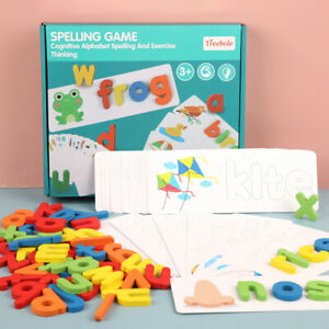 Alphabet Puzzles Wooden Letter Card Child Learning Board Early Educational