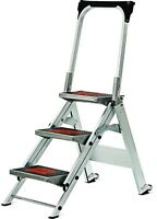 Little Giant Ladder Systems 3 Ft. Safety Aluminum Step Ladder Heavy Duty