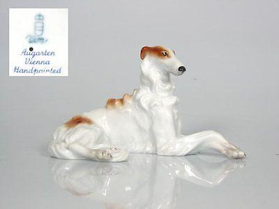 Barsoi Windhund Figur Hund hundefigur augarten wien braun