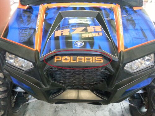 2011-2014 Polaris RZR 900 Razor decals for embossed area of grill and tailgate.